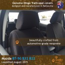 Mazda BT50 B32 B22 Neoprene Seat Covers (MB11)b2-01
