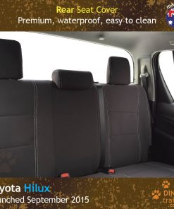 Custom Fit, Waterproof, Neoprene Toyota Hilux MK.8 Workmate REAR Seat Cover.
