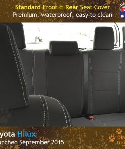 Custom Fit, waterproof, Neoprene Toyota Hilux MK.8 Workmate FRONT & REAR Seat Covers.