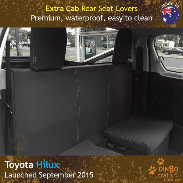 Neoprene EXTRA CAB REAR Seat Covers for Toyota Hilux MK.8 Workmate