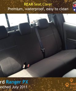 Custom fit, waterproof, neoprene Ford Ranger PX Rear Seat Cover.