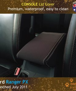 Custom fit, waterproof Neoprene Ford Ranger PX Console Lid Cover.