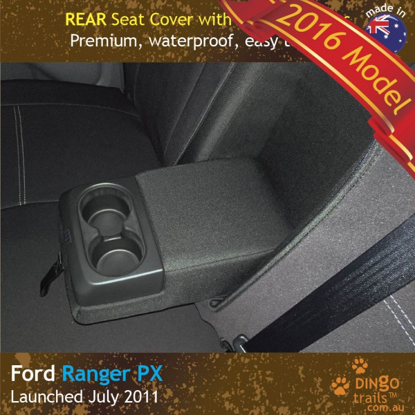 Neoprene REAR Seat Cover + Armrest Access for Ford Ranger PX