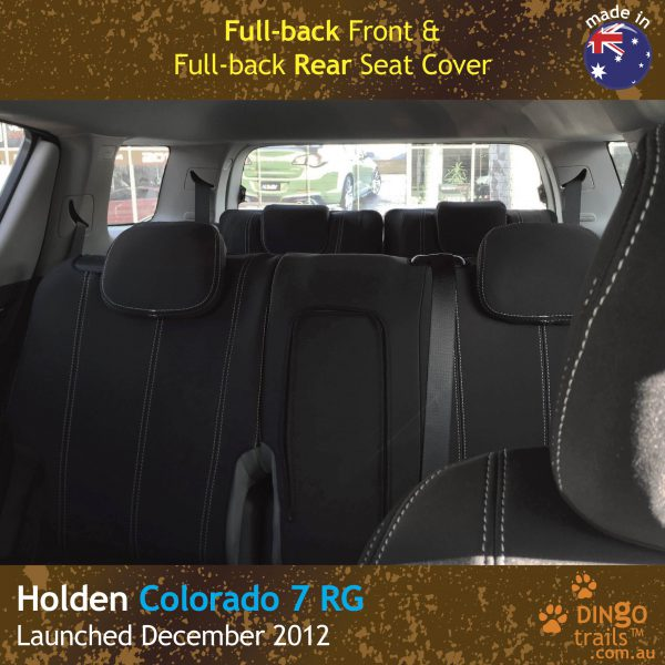 Neoprene Full-Back Front & Rear Seat Covers + Armrest Access for Holden Colorado 7 RG