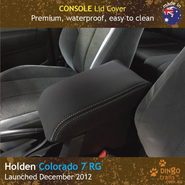 Neoprene CONSOLE Lid Cover for Holden Colorado 7 RG