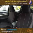 Neoprene Full-Back Front Seat Covers + Map Pockets for Holden Colorado RG