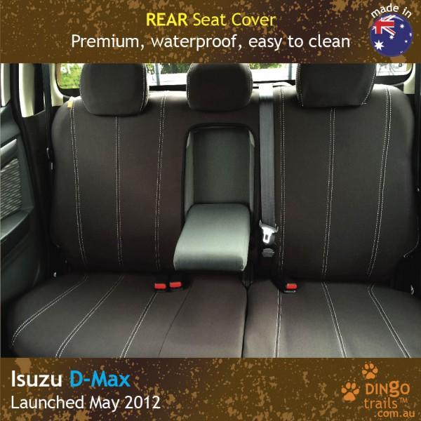 Neoprene REAR Seat Cover + Armrest Access for ISUZU D-Max RC