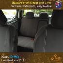 Custom Fit, waterproof, Neoprene ISUZU D-Max RC FRONT & REAR Seat Covers.