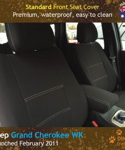 Custom Fit, waterproof, neoprene Jeep Grand Cherokee FRONT Seat Covers.