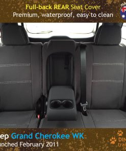 Custom Fit, waterproof, neoprene Jeep Grand Cherokee Full-back REAR Seat Covers.