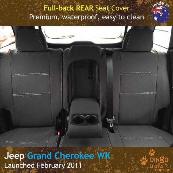 Neoprene Full-back REAR Seat Cover + Armrest Access for Jeep Grand Cherokee