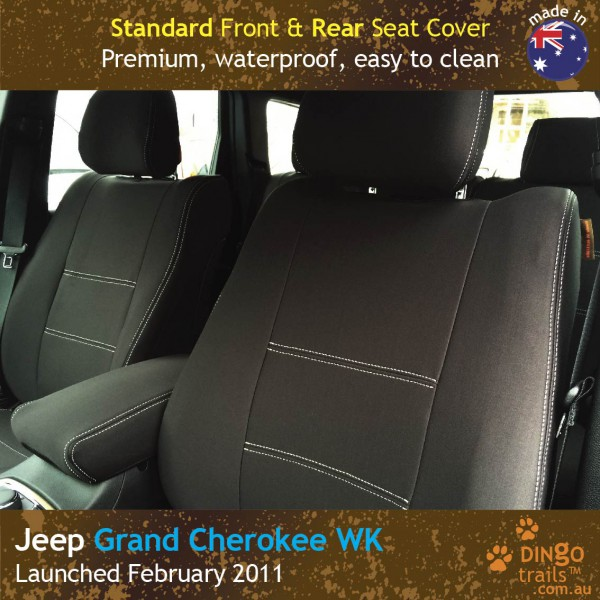 Neoprene FRONT & REAR Seat Covers + Armrest Access for Jeep Grand Cherokee