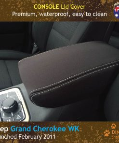 Custom Fit, waterproof, neoprene Jeep Grand Cherokee CONSOLE Lid Cover.