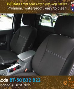 Custom Fit, waterproof, neoprene Mazda BT FULL-BACK Front Seat Covers.