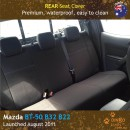Neoprene REAR Seat Cover for Mazda BT