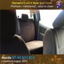 Custom Fit, waterproof, neoprene Mazda BT FRONT & REAR Seat Covers.