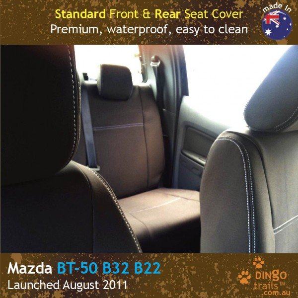Neoprene FRONT & REAR Seat Covers + Armrest Access for Mazda BT