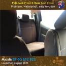 Custom Fit, waterproof, neoprene Mazda BT FULL-BACK Front & REAR Seat Covers.