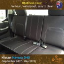 Neoprene REAR Seat Cover for Nissan Navara D40