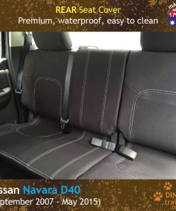 Custom Fit, Waterproof, Neoprene Nissan Navara D40 REAR Seat Cover.