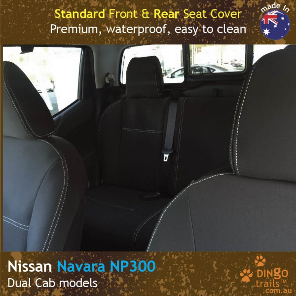 Neoprene FRONT & REAR Seat Covers for Nissan Navara NP300 D23