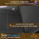 Toyota Hilux Neoprene Seat Covers (TH05)c-01
