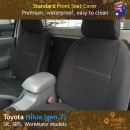 Custom Fit, Waterproof, Neoprene Toyota Hilux, SR, SR5, WorkMate FRONT & REAR Seat Covers.