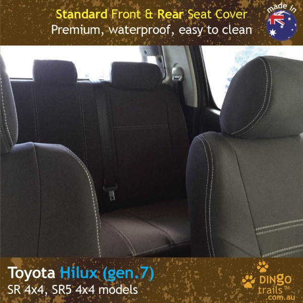 Neoprene FRONT & REAR Seat Covers for Toyota HILUX MK.7 – SPORTS