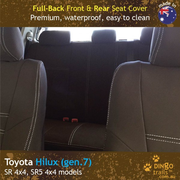 Neoprene FULL-BACK Front & REAR Seat Covers for Toyota Hilux MK.7 – Sprots