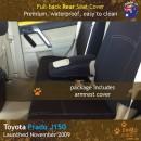 Neoprene Full-back REAR Seat Cover + Armrest Cover for Toyota Prado J150