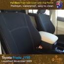 Neoprene FULL-BACK Front Seat Covers + Map Pockets for Toyota Prado J150