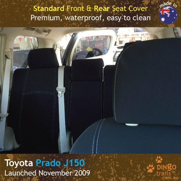 Neoprene FRONT & REAR Seat Covers + Armrest Cover for Toyota Prado J150