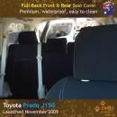 Custom Fit, Waterproof, Neoprene Toyota Prado J150 FULL-BACK Front & REAR Seat Covers.