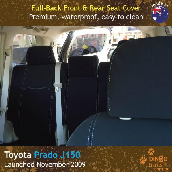 Neoprene FULL-BACK Front & REAR Seat Covers + Armrest Cover for Toyota Prado J150