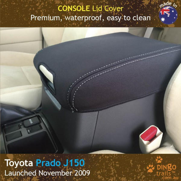 Neoprene CONSOLE Lid Cover + Slide Fwd for Toyota Prado J150