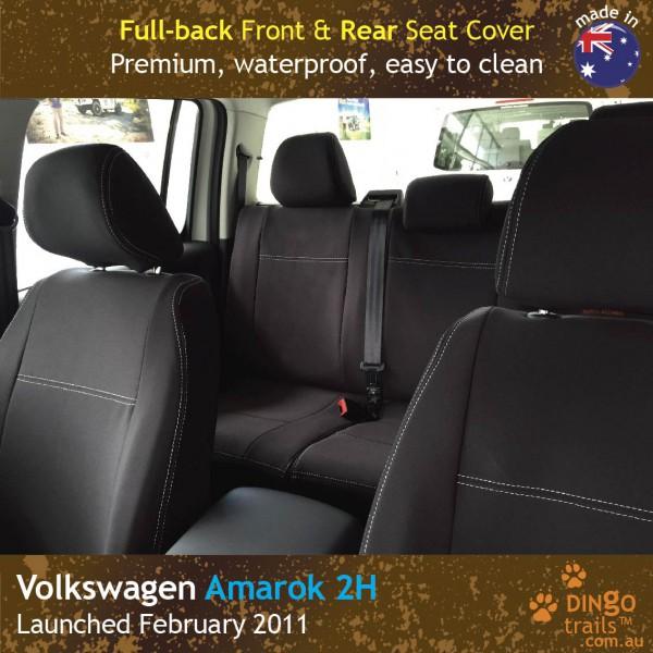 Neoprene FULL-BACK Front & REAR Seat Covers for Volkswagen Amarok 2H