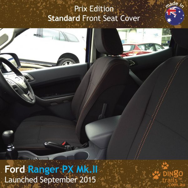 Neoprene FRONT Seat Covers for Ford Ranger PX (PRIX Edition)