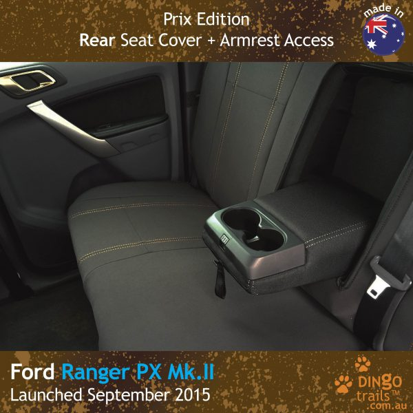 Neoprene REAR Seat Cover + Armrest Access for Ford Ranger PX (PRIX Edition)