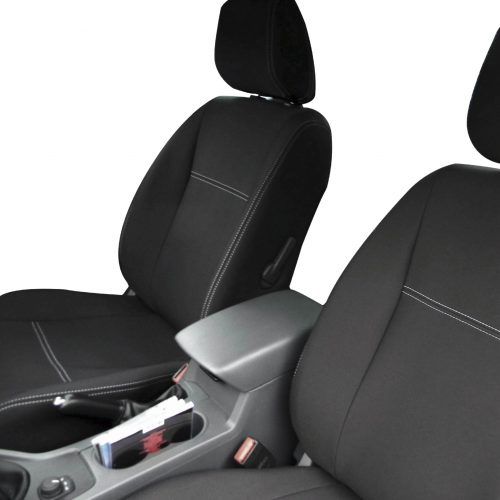 Custom fit, waterproof, neoprene Ford Ranger PX FULL-BACK Front Seat Covers + Map Pockets