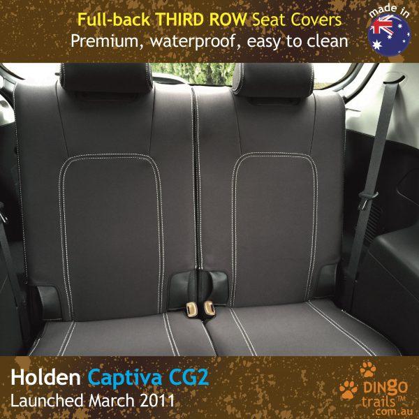 Neoprene Full-back THIRD ROW Seat Covers for Holden Captiva 7 CG2