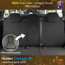 Neoprene Rear Seat Cover + Armrest Access for Holden Colorado RG