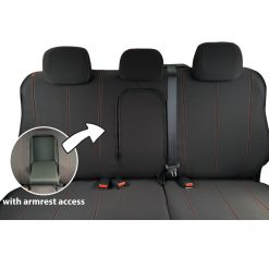 Custom Fit, waterproof, neoprene Holden Colorado RG Rear Seat Cover (PRIX Edition).