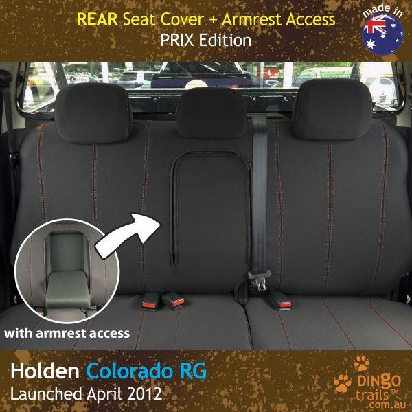 Neoprene Rear Seat Cover + Armrest Access for Holden Colorado RG