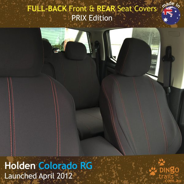 Neoprene FULL-BACK Front Seat Covers + Map Pockets for ISUZU D-Max RC