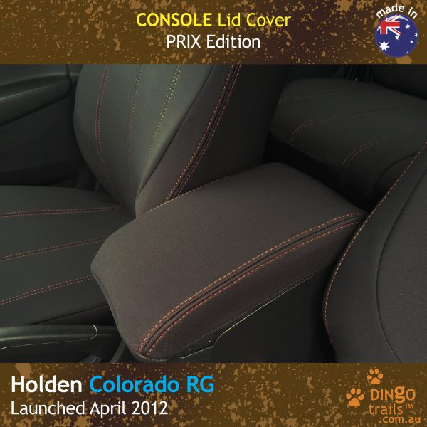 Neoprene Console Lid Cover for Holden Colorado RG