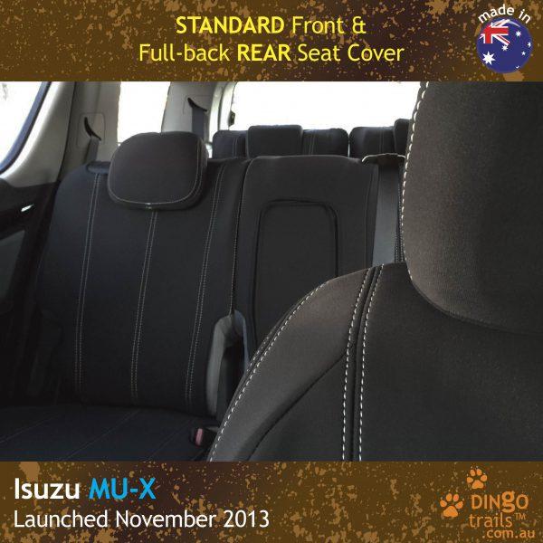 Neoprene FRONT & REAR Seat Covers + Armrest Access for ISUZU MU-X