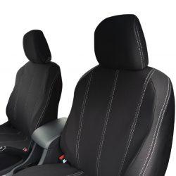 Custom Fit, waterproof, neoprene ISUZU MU-X FULL-BACK Front Seat Covers.