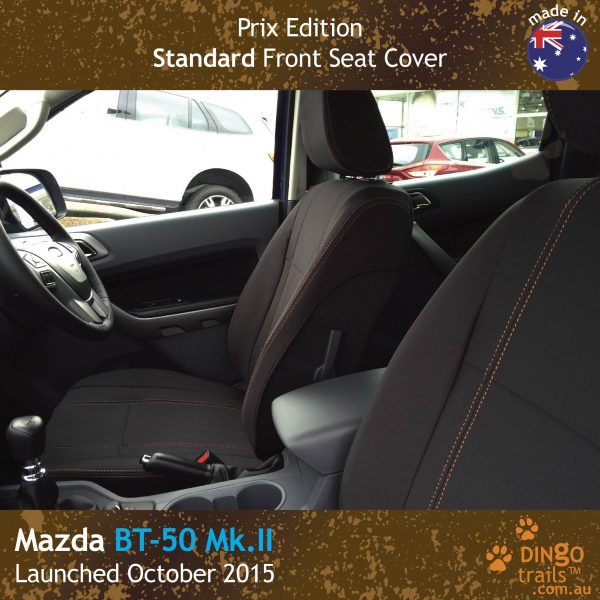 Neoprene FRONT Seat Covers (PRIX Edition) for Mazda BT-50-UR