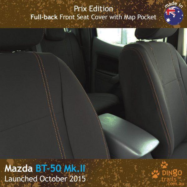 Neoprene FULL-BACK Front Seat Covers + Map Pockets (PRIX Edition) for Mazda BT-50-UR