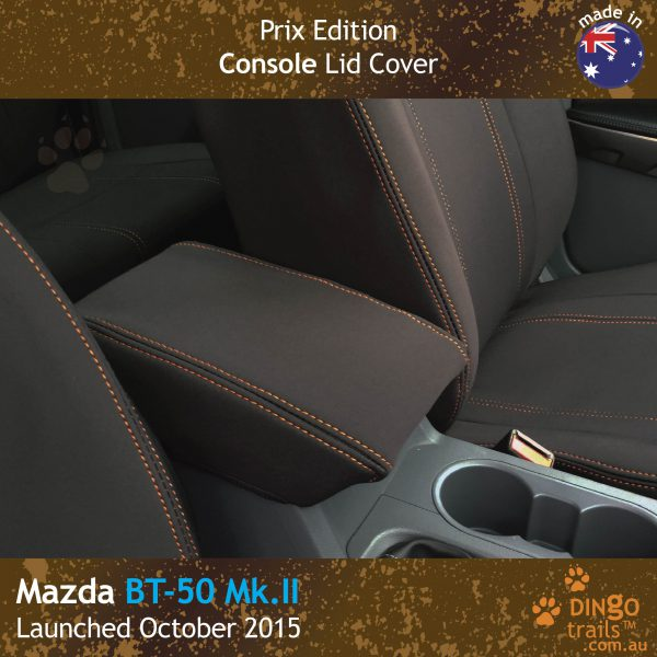 Neoprene CONSOLE Lid Cover (PRIX Edition) for Mazda BT-50-UR